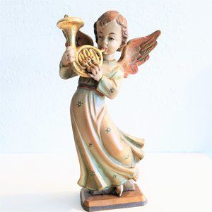 CHRISTMAS ANGEL with FRENCH HORN